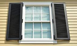 Металлические жалюзийные ставни на окна