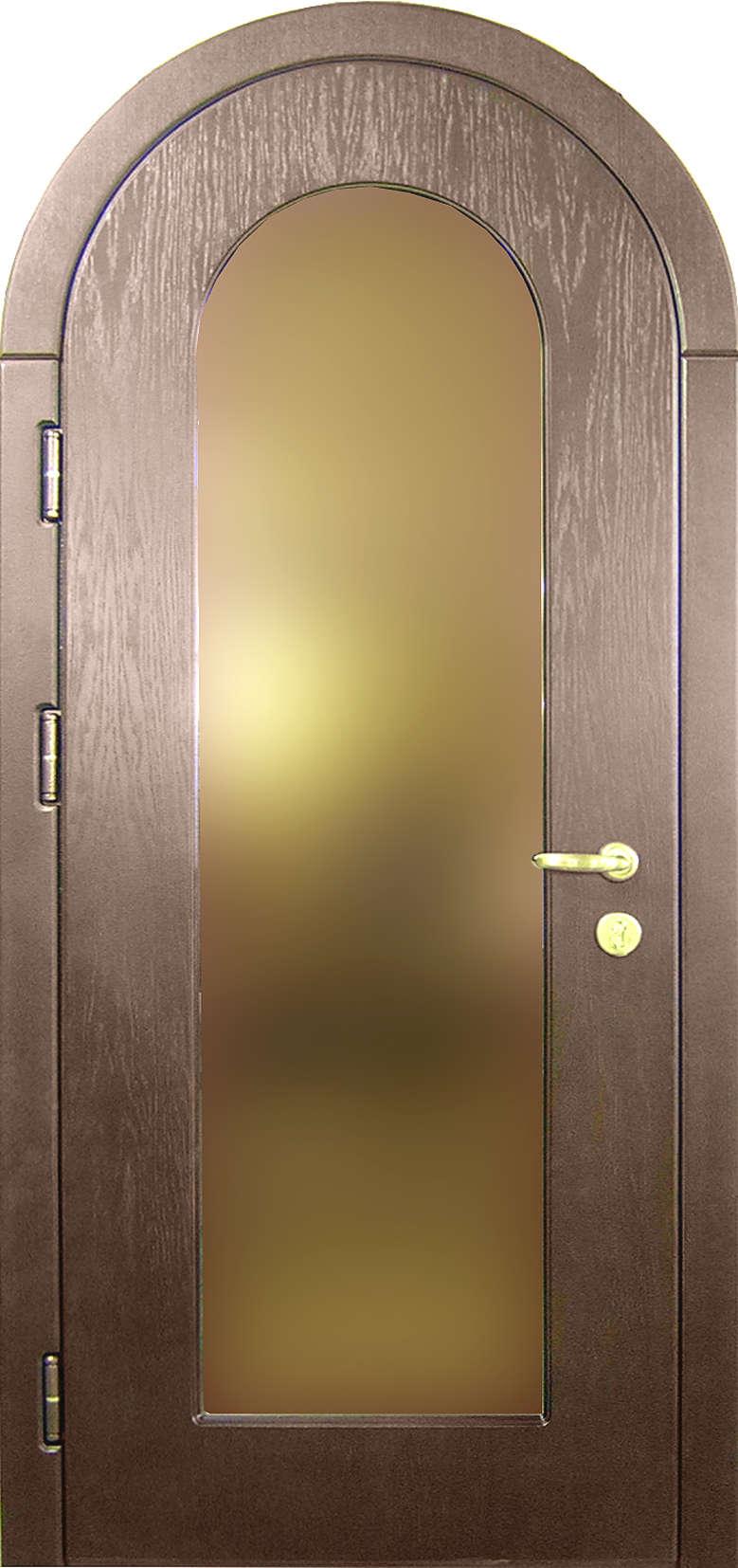 заказать арочные тамбурные металлические двери со стеклом