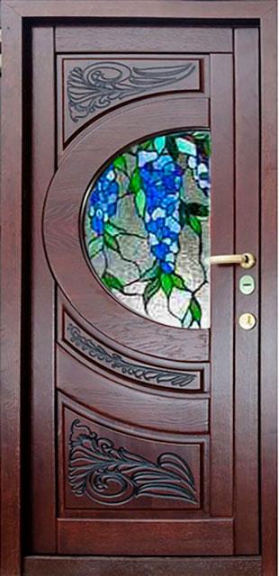 купить металлическую дверь с витражом
