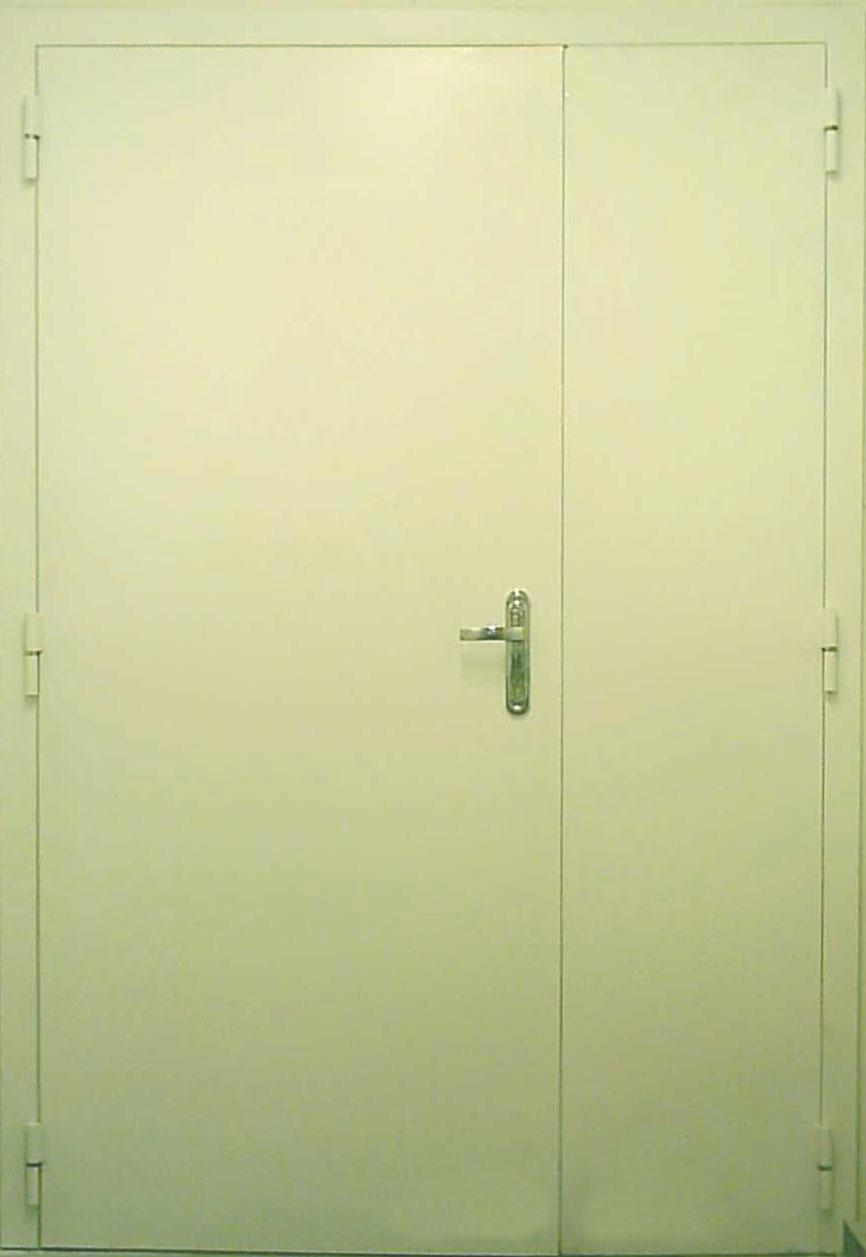металлическая дверь на площадку этажа