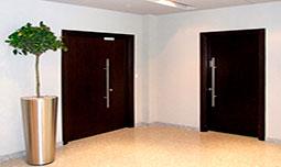 Металлические двери у лифта